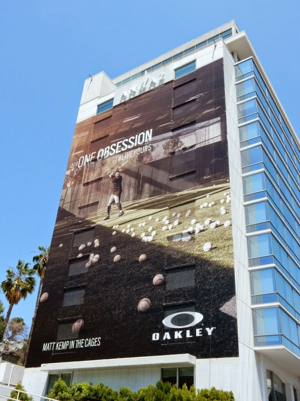 Giant Oakley One Obsession Matt Kemp baseball billboard