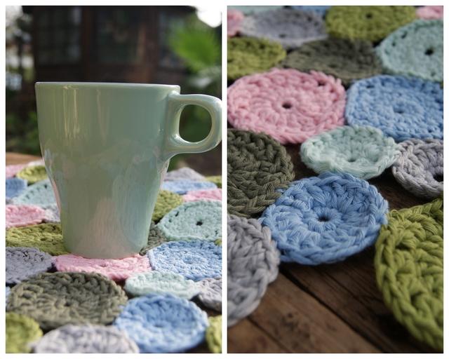 DIY Coaster Untersetzer aus gehäkelten Kreisen