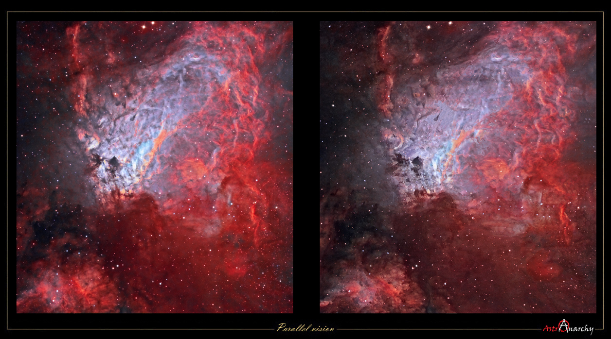 Astro Anarchy A New Version Of M17 Stereo Pair 3d