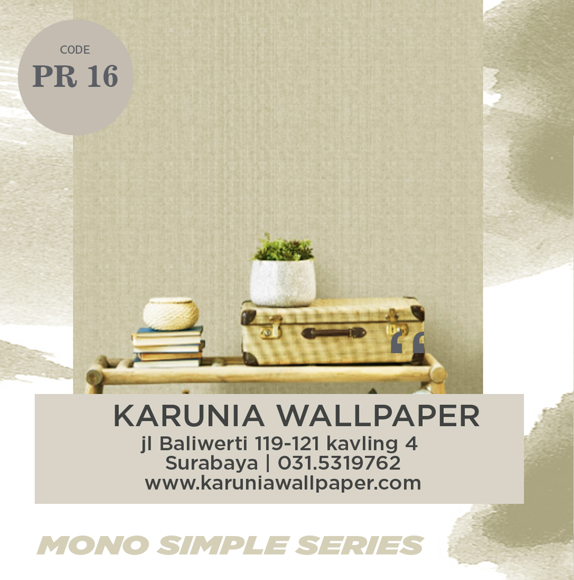 jual wallpaper dinding krem karuniawallpaper