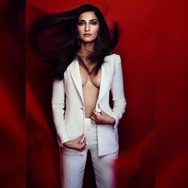 sonam kapoor boldest photoshoot for vogue magazine april 2015 issue.   bollywood magazines , sonam kapoor , vogue , vogue india , sonam , bollywood ,, Sonam Kapoor Vogue Magazine Bold Scans April 2015 Issue