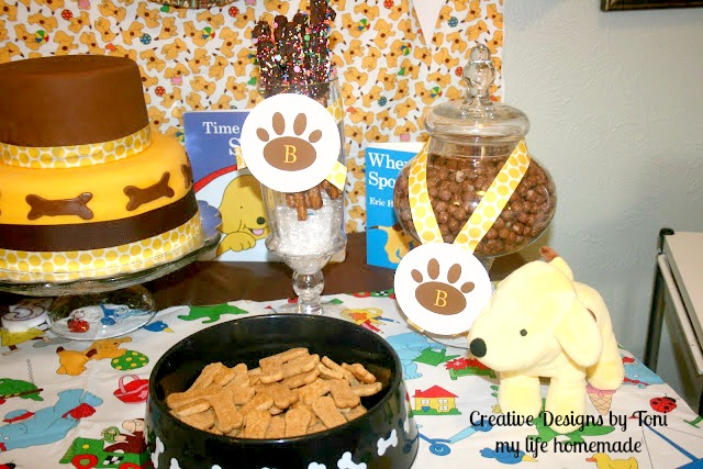 My life homemade boy 39 s puppy themed 3rd birthday party for Table 52 dessert
