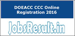 DOEACC CCC Online Registration 2016