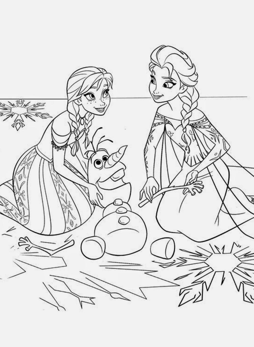 Desenhos Animados Para Colorir E Imprimir Desenhos Da Frozen Para
