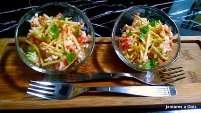 Salada de abobrinha crocante