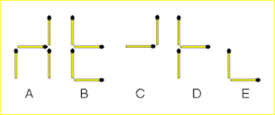 Hard Odd One Out Matchstick Puzzle