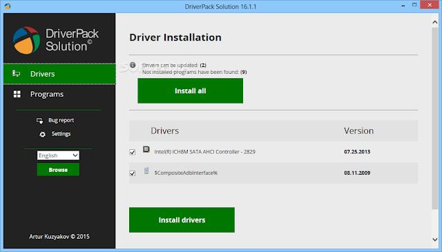 تحميل اسطوانة التعريفات العملاقه مجانا DriverPack Solution