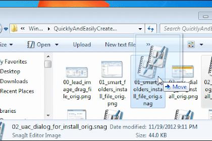 Cara Cepat Membuat Folder Pada Windows Dengan Drag and Drop Files