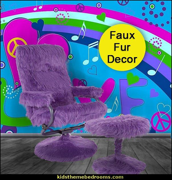 faux fur seating purple  faux fur home decor - fuzzy furry decorations - Flokati - mink - plush - shaggy - faux flokati upholstery - super soft plush bedding - sheepskin - Mongolian lamb faux fur - Faux Fur Throw - faux fur bedding - faux fur blankets - faux fur pillows - faux fur decorating ideas - faux fur bedroom decor - fur decorations - fluffy bedding - feathery lamps