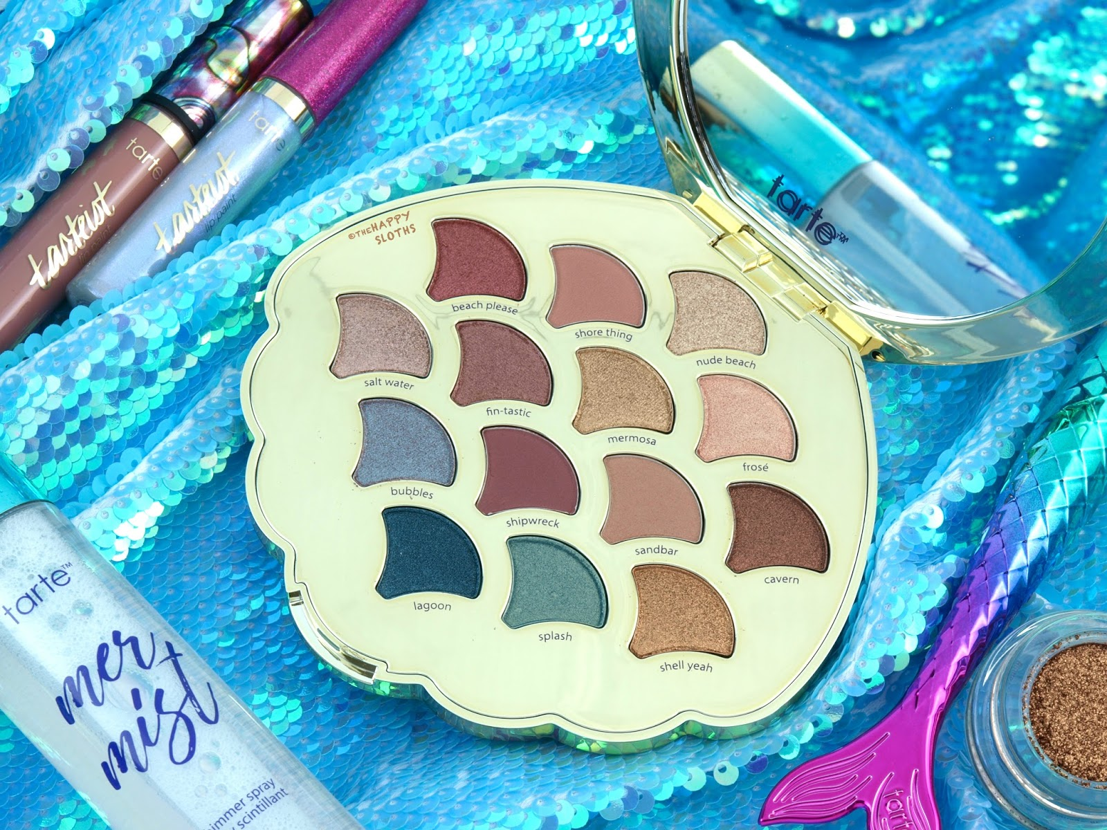 Tarte | Be A Mermaid & Make Waves Eyeshadow Palette: Review and Swatches