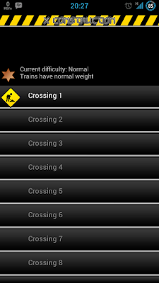 2 - Tampilan utama permainan membangun jembatan -  game android X Construction (rev-all.blogspot.com)