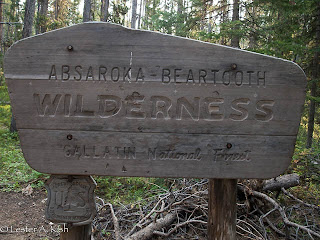 "Absaroka Beartooth Wilderness sign along the ""Beaten Path"" Montana"