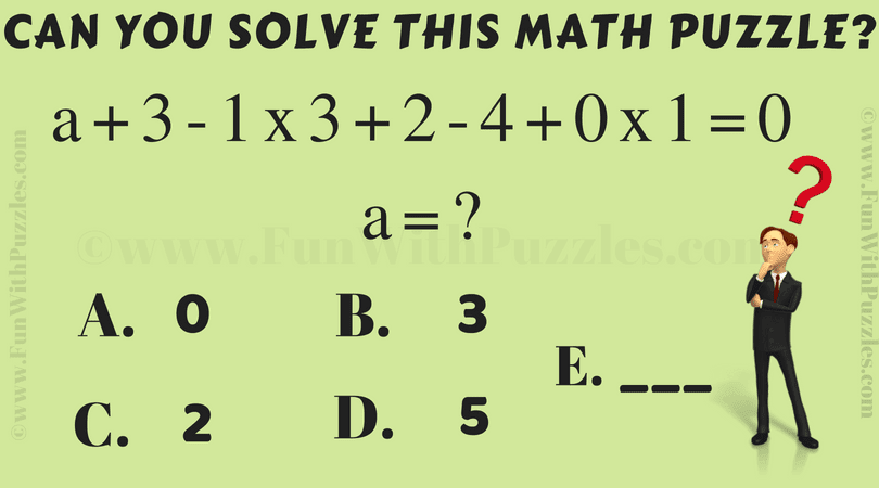 Maths Calculation Speed Test Brain Teaser with Answer-Fun