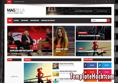 magzilla blogger template