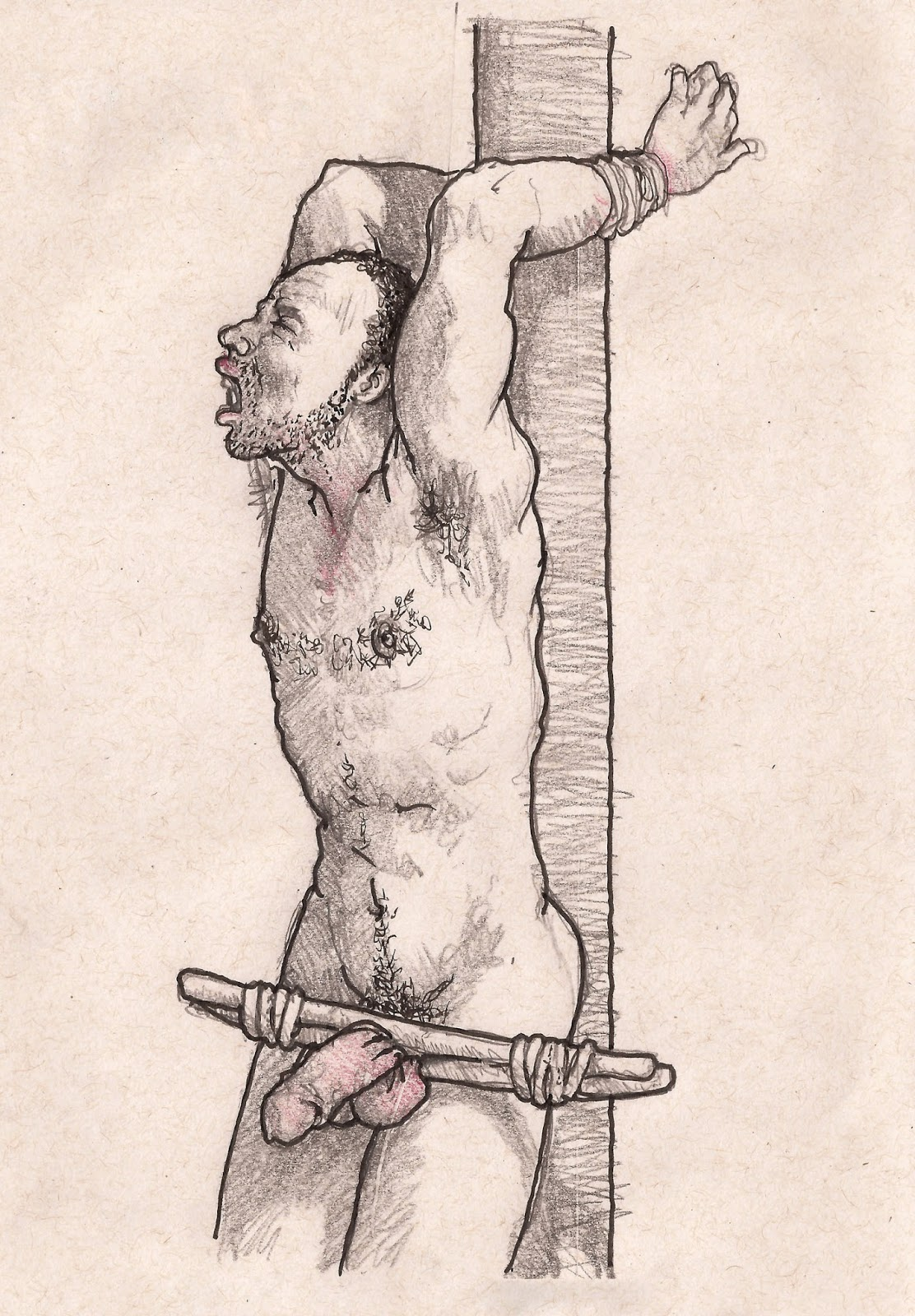Bdsm female crucifixion drawing here
