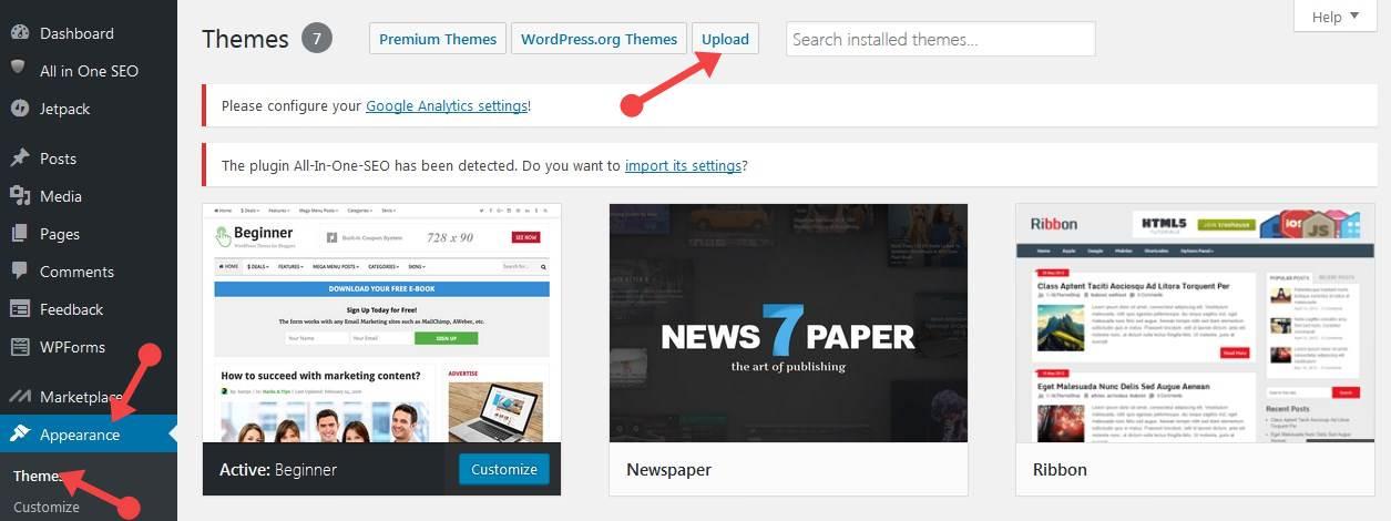 WordPress Theme change कैसे करते हैं
