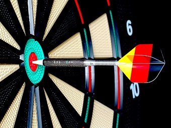 Dart Hitting the Center of the Target