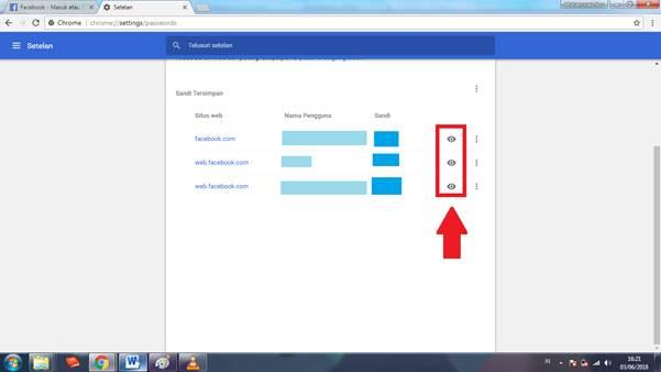 Gambar untuk cara melihat dan menghapus password