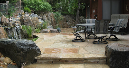 Patio Ideas with Water Feature for Chalet