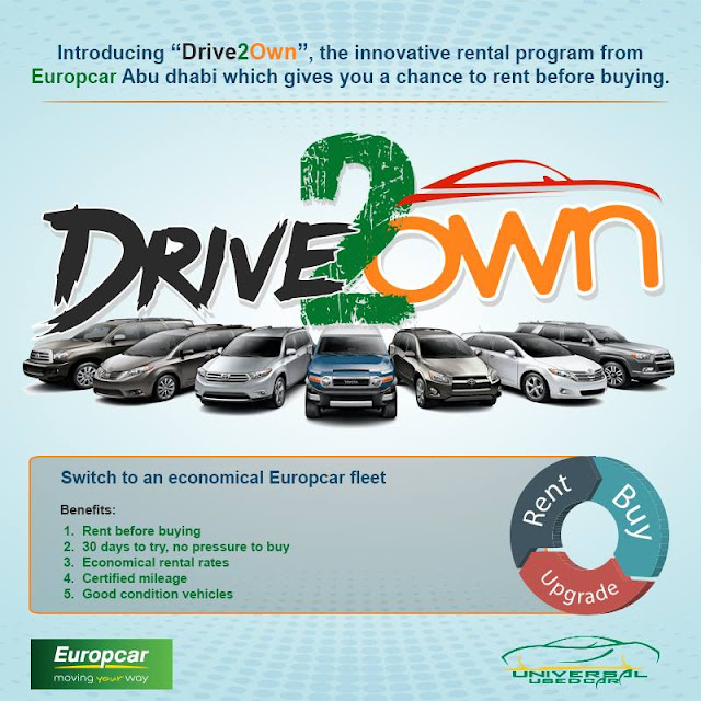 Europcar Abu Dhabi Introducing Drive2own The Innovative Rental