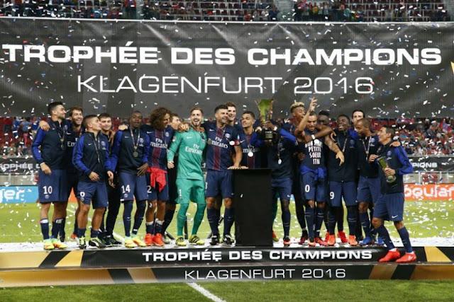 Le PSg a remporté le Trophée des Champions 2016 en battant Lyon 4-1