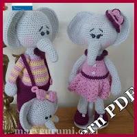 Familia elefante amigurumi