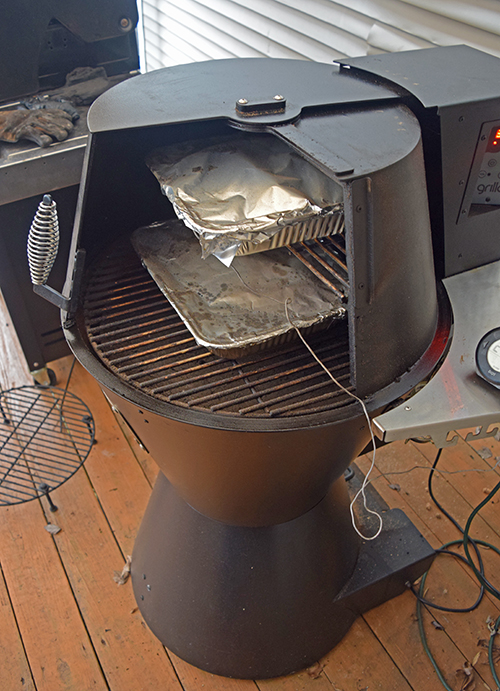 I also used my Grilla pellet cooker to help braise our Certified Angus Beef chuck roasts.