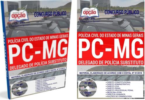 Apostila para Delegado de Polícia Civil Substituto - PCMG.