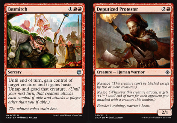 Magic the Gathering Adventures: Conspiracy Set Review: Red Cards