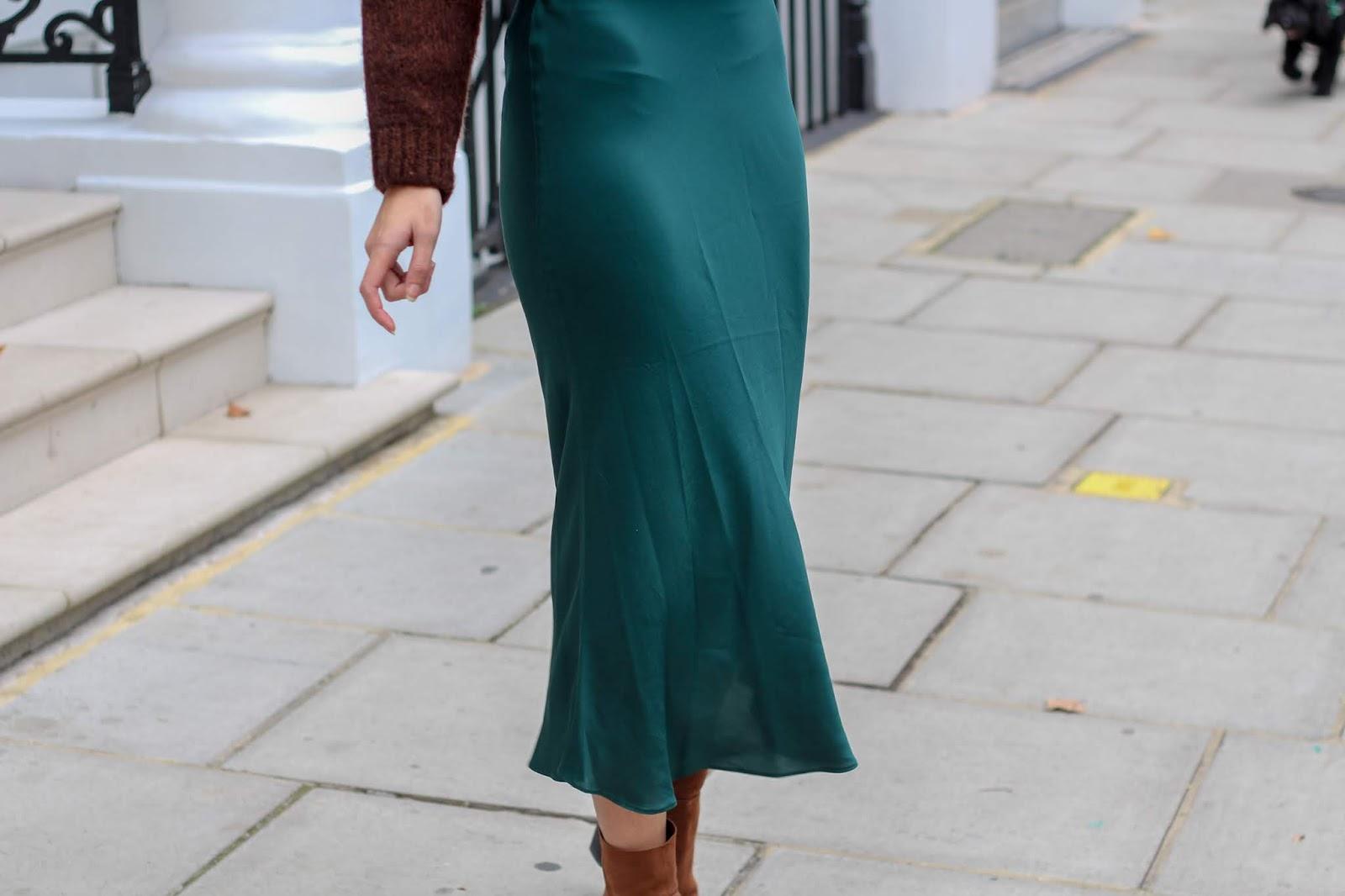 high street satin skirt edit peexo blog