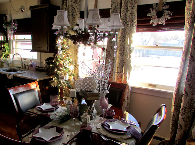 Night and Day Christmas Tablescape