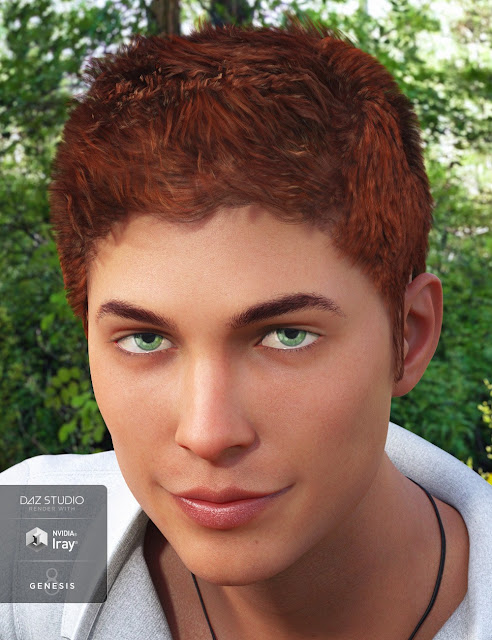 Zack Hair for Genesis 8 Male
