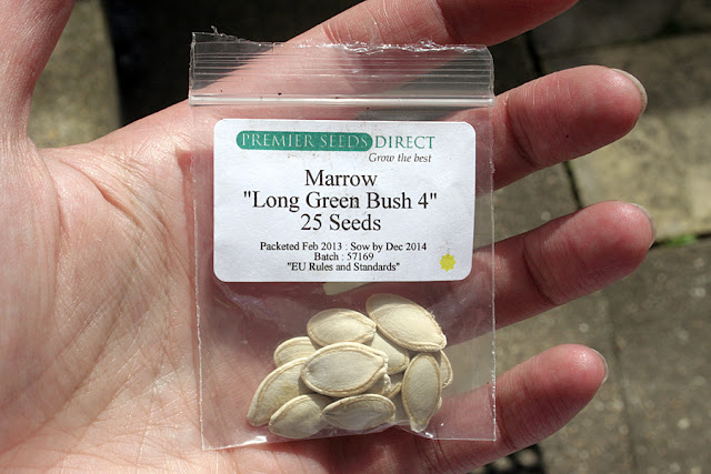 The Victory Garden - Long Green Bush Marrow Seed Packet from Premier Seeds Direct