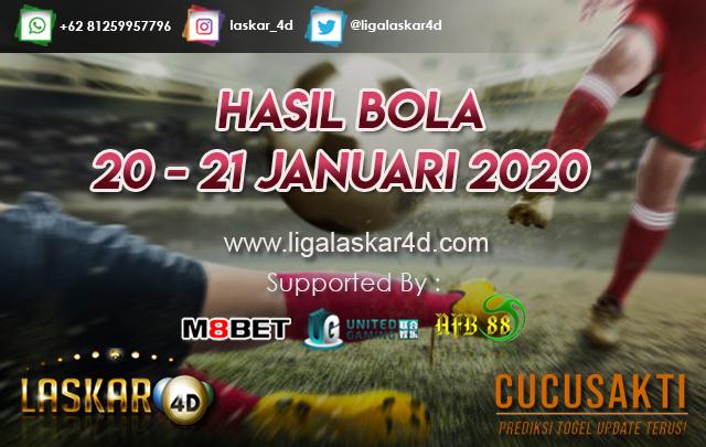 HASIL BOLA JITU TANGGAL 20 – 21 JANUARI 2020