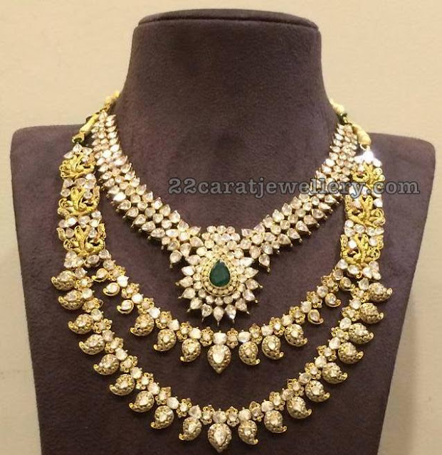 Two Rows Peacock Mango Set by Mohini Jewellers