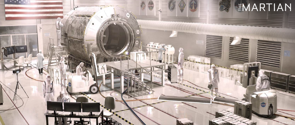 Concept art for The Martian - back on Earth