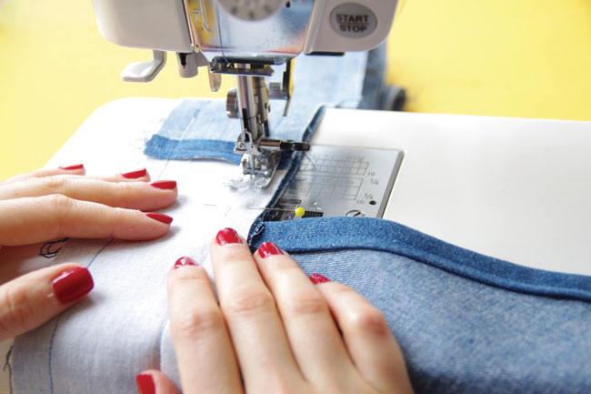 How to sew the Miette skirt - Attaching the waistband