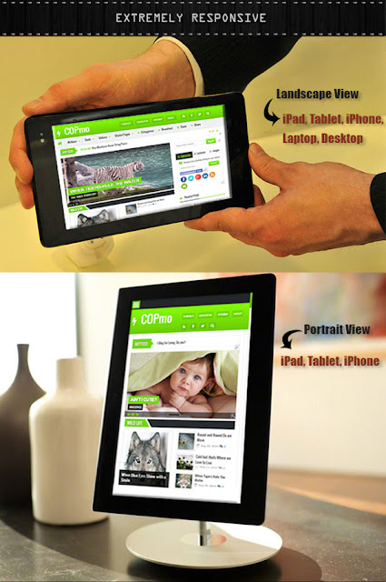 COPMO - Responsive, SEO Ready And Ads Ready Blogger Template