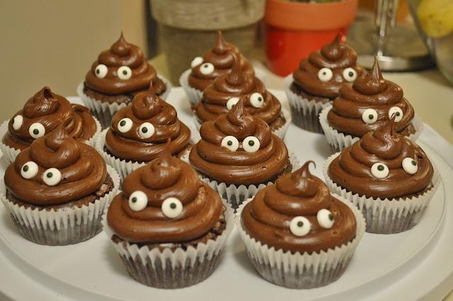 cute brownie cupcakes gluten free poop emoji