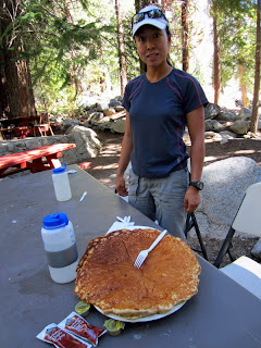 Giant pancake at the Whitney Portal Store.