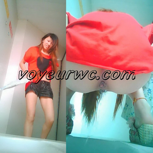 ChinaVoyeur B594-637 (Girls peeing in the common toilet voyeur spy cam videos)