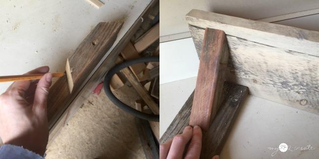 measuring for shelf bracket cuts