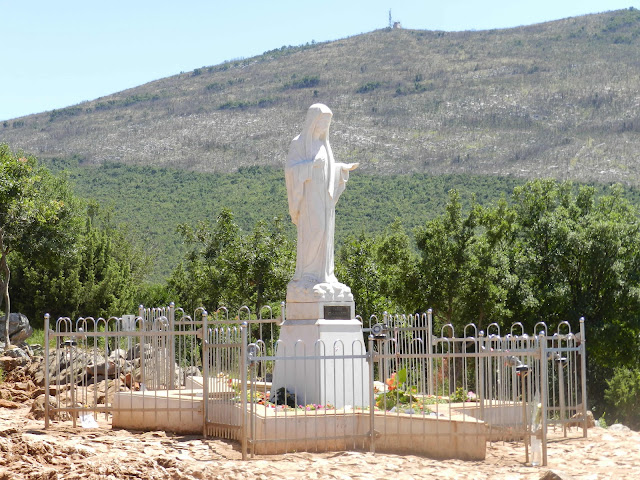 Statue of Our Lady where she first appeared in Medjugorje
