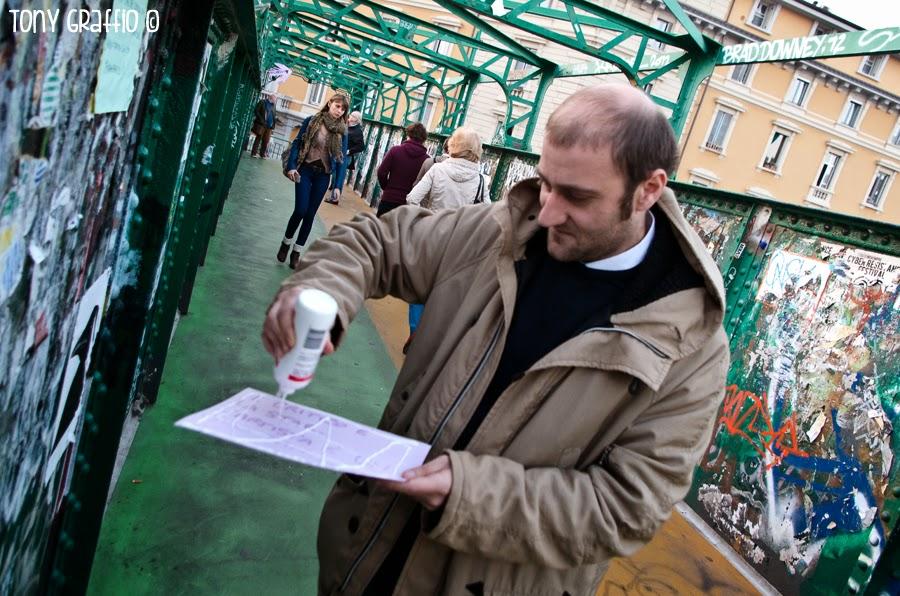 Il sistema è arrivato sul ponte degli artisti a Milano