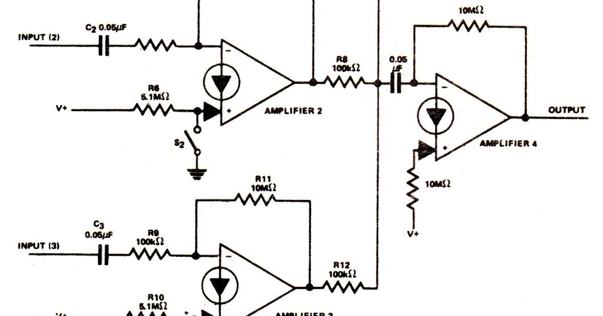 Circuit Diagram Knowledge: Simple Audio Mixer Circuits