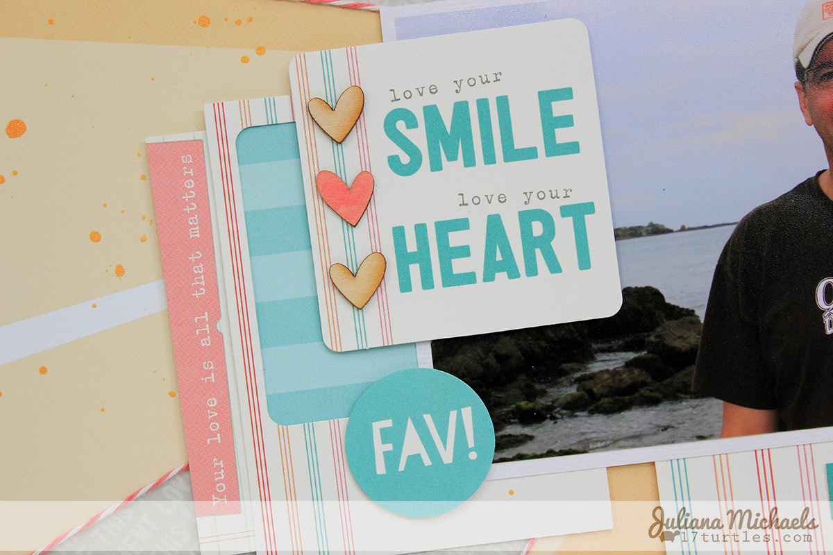 Love Your Smile Scrapbook Page by Juliana Michaels featuring Elle's Studio August 2014 Exclusive Kit