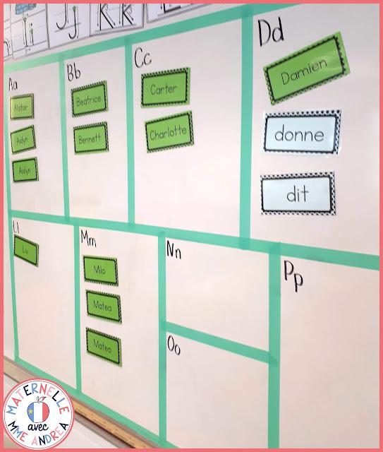 Looking for step by step instructions for turning your white board into a word wall (mur de mots) in your French primary classroom? Check out this blog post!