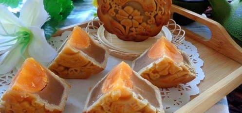 Bánh nướng hạt dẻ nhân trứng muối