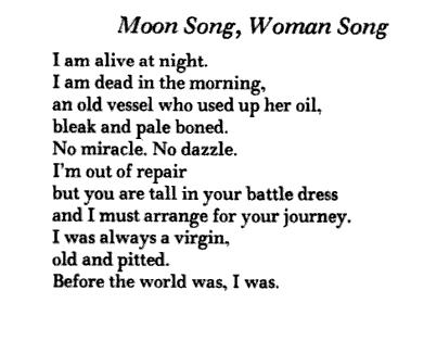 Things That Can Fly: Moon Song, Woman Song / Anne Sexton