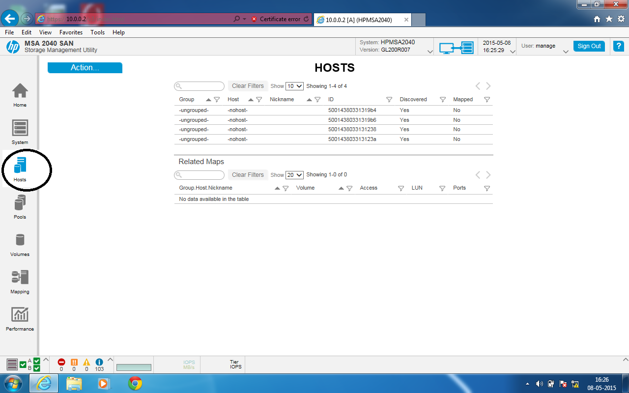 IT Solution: How to configure HP SAN storage MSA 2040 step